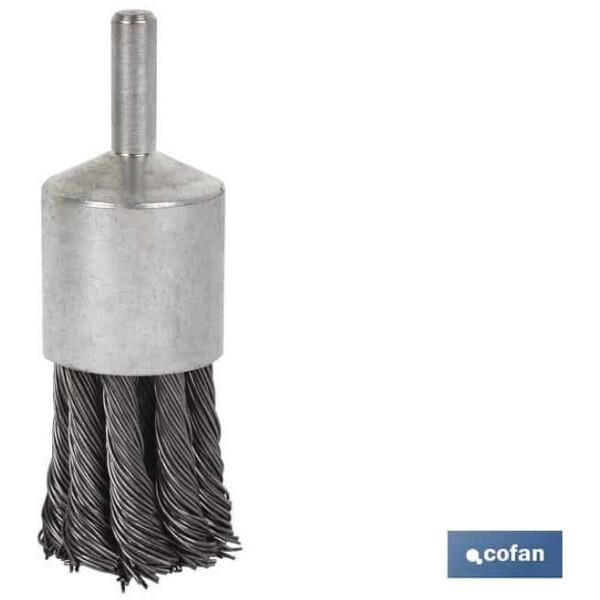 CEPILLO BROCHA TRENZADO 6xØ22 ACERO 0.5mm