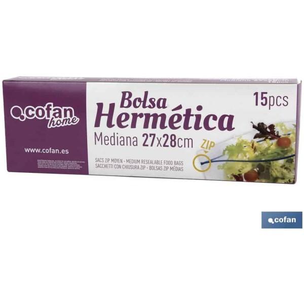 BOLSAS ZIP MEDIANA 27X28 15UDS
