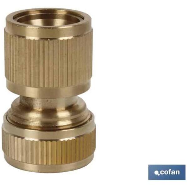 CONECTOR MANGUERA LATÓN 1/2″ – 5/8″ (13-15 mm)