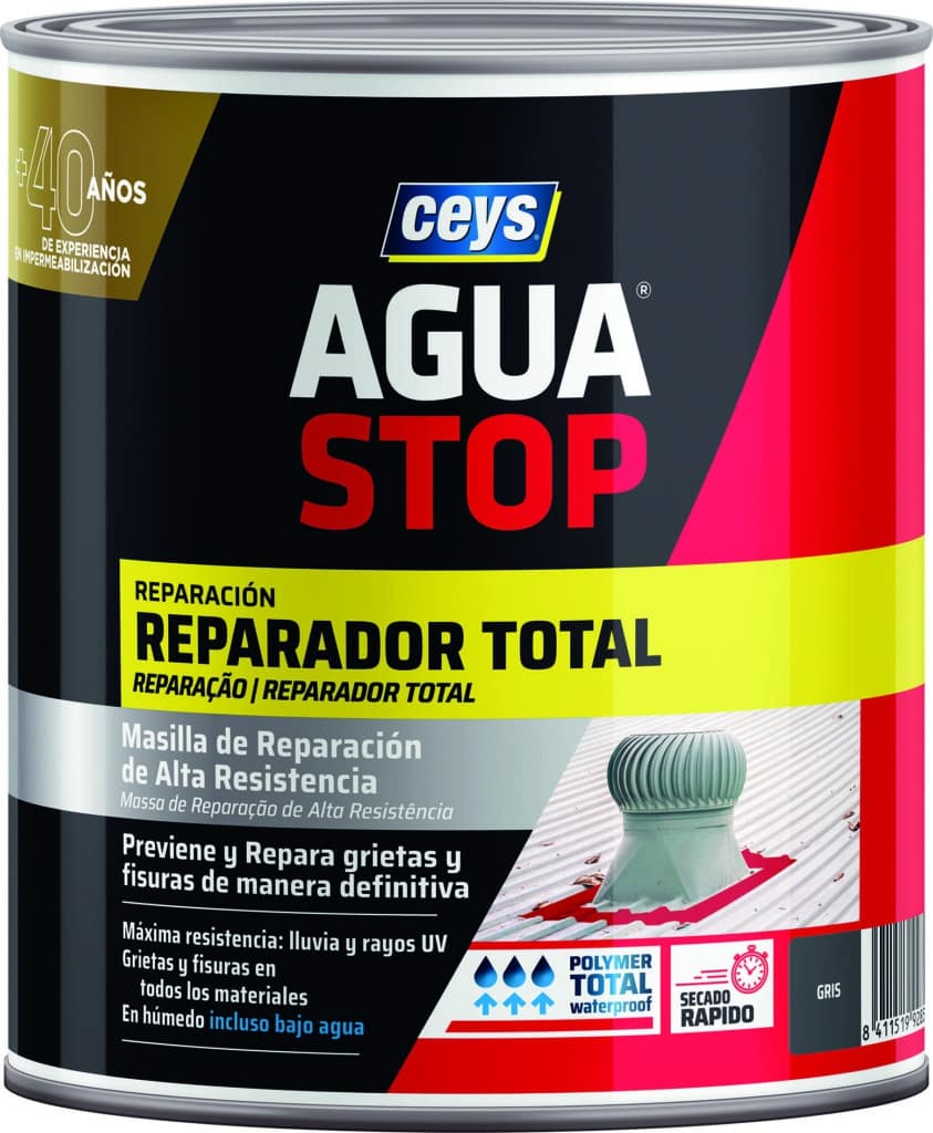 Aguastop reparador total 1kg gris CEYS