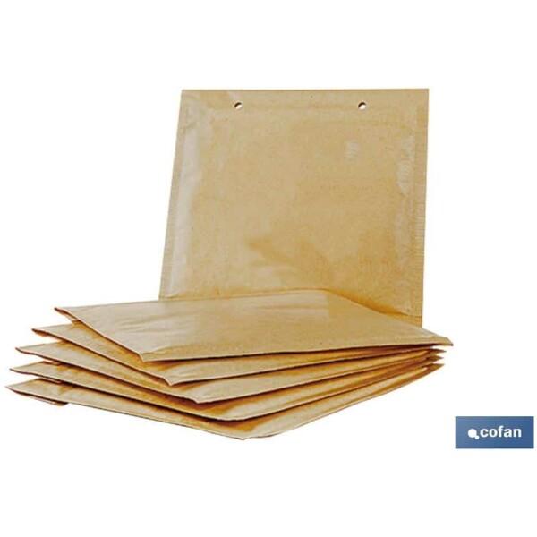 PACK DE 5 SOBRES KRAFT CON BURBUJA 200X275 MM